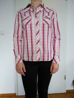 Levi's Long Sleeve Shirt pale yellow-magenta cotton