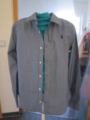 Lauren by Ralph Lauren Camisa de manga larga azul oscuro-blanco