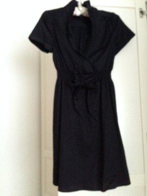 Schönes Hemdblusenkleid mit Schleife, Gr. 38