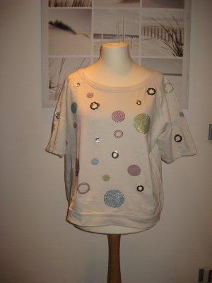 TwinSet Simona Barbieri Sweatshirt beige clair coton