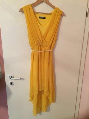 Schönes High-Low Kleid in Gelb
