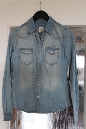 H&M L.O.G.G. Denim Shirt pale blue