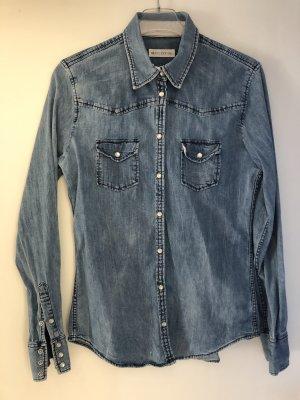 Marc O'Polo Denim Shirt slate-gray-dark blue cotton