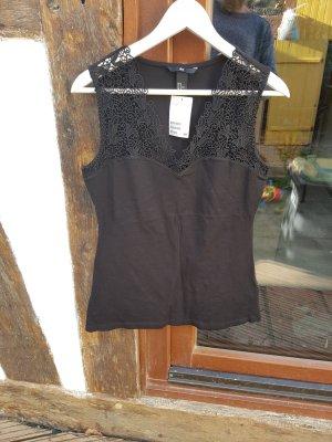 Schönes Jersey Top Shirt Gr. M schwarz H&M