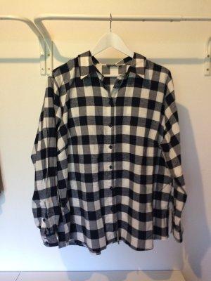 Flannel Shirt white-dark blue