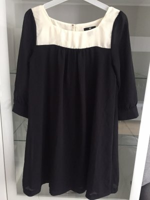 H&M Babydoll-jurk zwart-wit