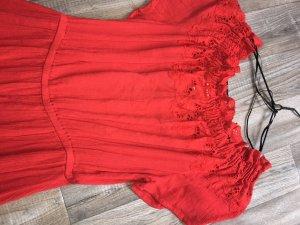 H&M Denim Dress red