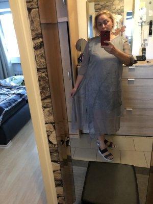 Vestido de chifón gris claro-gris
