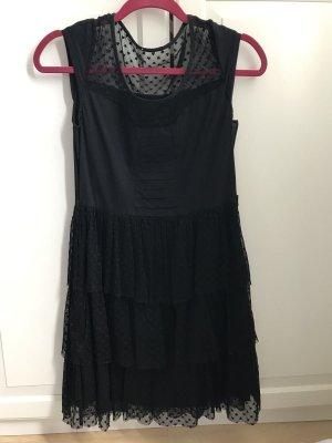 Schönes Kleid Gr M schwarz spitze