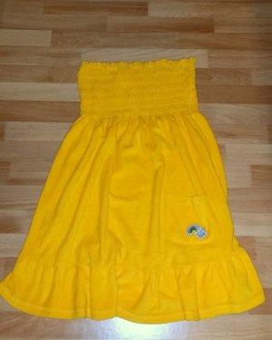 schönes Kleid in gelb, schulterfrei ,Gr. S