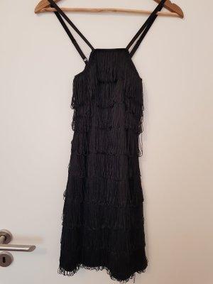 schönes Kleid in schwarz Fransen Flapper 1920er Jahre Kleid Gr. S