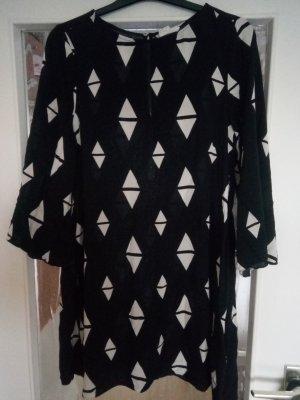 H&M Dress black-white