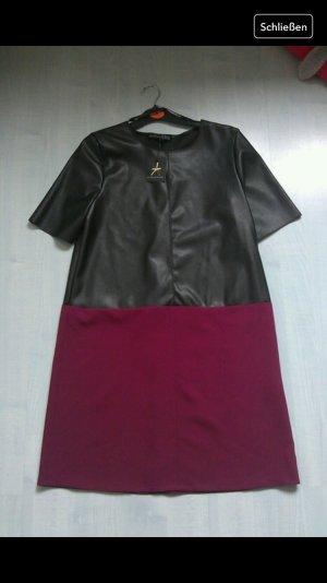 Schönes Kleid Stoffmix Neu!