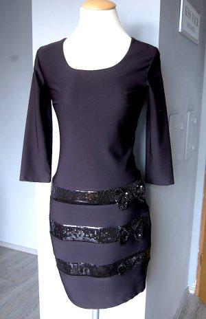 Schönes Kleid von Oben - Gr. 36 - Disco Party Date - Glitzer Strass Schleifchen