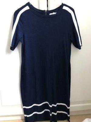 Paraphrase Vestido de tela de sudadera azul Viscosa