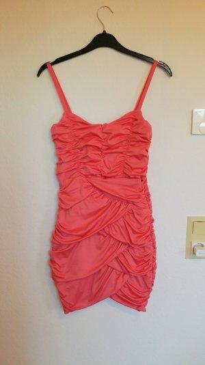 schönes kurzes Kleid mit Träger in rosa/lachs Gr. S/ 36