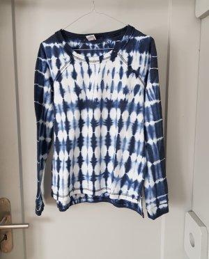 Schönes Langarmshirt in blau-weiß in Größe S