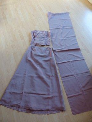 Schönes langes 3-tlg. Abendkleid-Korsage-Stola von SIXTH SENSE in Gr. 38