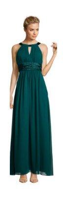 Schönes, langes Abendkleid in dunkelm Grün
