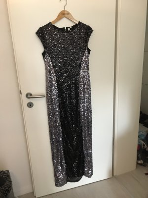 b.p.c. Bonprix Collection Sequin Dress black-silver-colored polyester