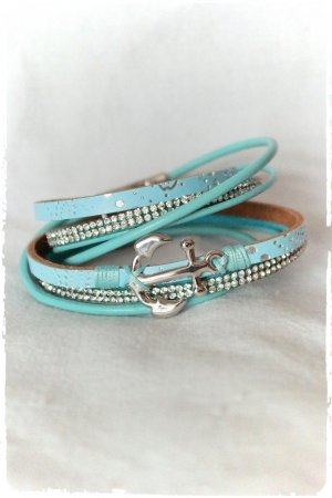 schönes Leder Wickelarmband