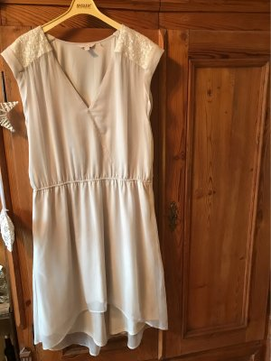 Esprit High Low Dress natural white