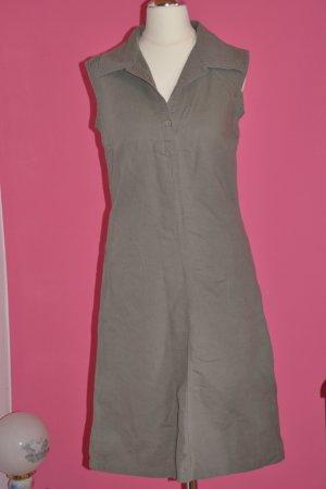Schönes Leinen-Baumwoll-Kleid khaki Gr. 36
