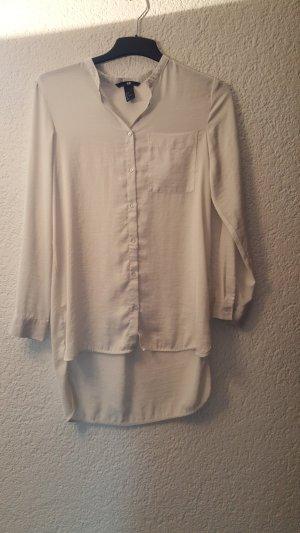 Schönes Long Hemd mit seitlicher Tasche im Creme