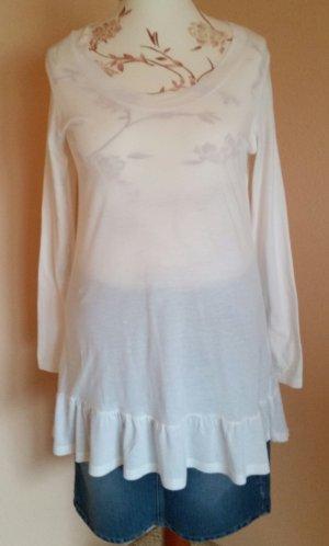 b.p.c. Bonprix Collection Robe à manches longues blanc