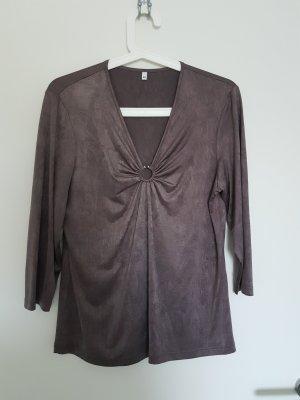 Schönes Longshirt in Braun, schimmert leicht