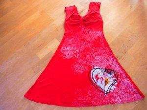 Schönes, luftiges rotes Trägerkleid von Desigual