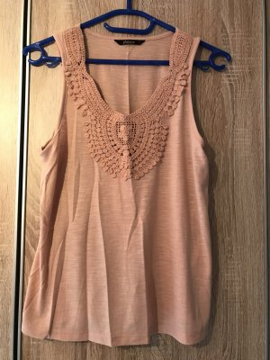 Only Crochet Top nude-rose-gold-coloured