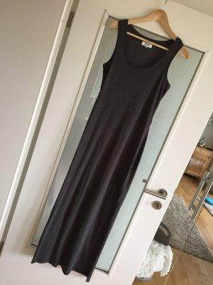 Schönes Maxi-Dress in Anthrazit Grau mit Seitenschlitz