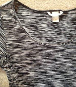 H&M Midi Dress black-light grey mixture fibre