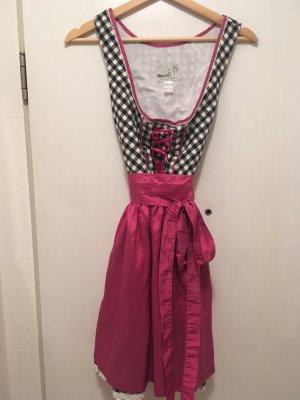 Schönes Mini Dirndl in Pink/Schwarz von MarJo, Gr. 36