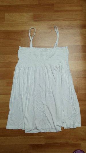 schönes mini Kleid mit Spaghettiträger in weiß / H&M/ Gr. S