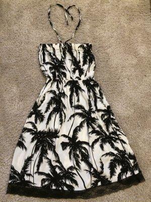 Schönes Neckholder-Kleid  in weiß/schwarz