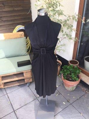 Mango Suit Vestido de cuello Halter negro
