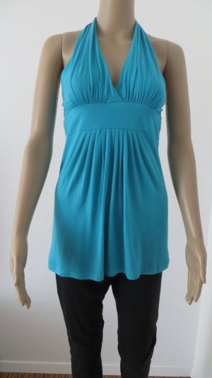 Hallhuber Halter Top turquoise-light blue