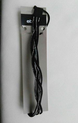 schönes neues Haarband schwarz mit Steinen