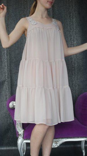 schönes nude beige Ballkleid Jugendweihe Kleid