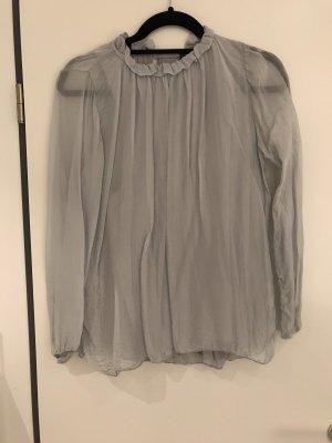 Blouse transparente gris clair