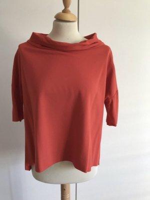Imperial Camisa de cuello barco rojo claro