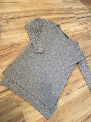 Zara Blusa de manga larga color bronce-marrón grisáceo