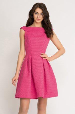 schönes Orsay Kleid in pink aus Jacquard Gr. 38