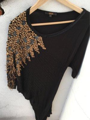 Schönes Pailletten Schlauchkleid schwarz Gold