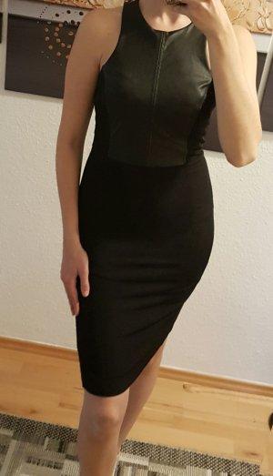 H&M Leren jurk zwart