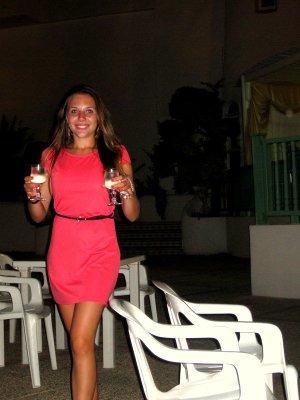 Schönes pink magenta orange färbendes Sommerkleid 34 36 wie neu!!
