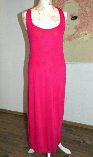 schönes pinkfarbenes Sommer Kleid mit Zierperlen hinten Gr. S