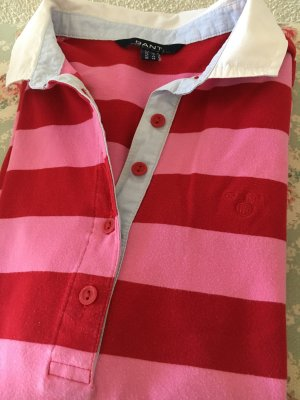 Gant Polo Shirt red-raspberry-red cotton